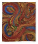 Set To Music - Original Abstract Painting Painting - Affordable Art Fleece Blanket