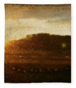 Setting Sun Abstract Fleece Blanket