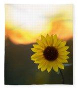 Setting Sun Flower Fleece Blanket