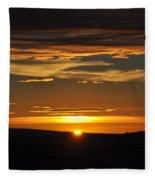 Setting Sun Fleece Blanket