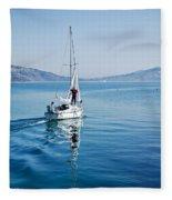 Setting The Sails Fleece Blanket