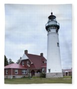 Seul Choix Point Lighthouse Fleece Blanket