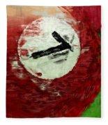 Seven Ball Billiards Abstract Fleece Blanket