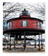 Seven Foot Knoll Lighthouse - Baltimore Fleece Blanket