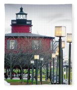 Seven Foot Knoll Lighthouse Fleece Blanket