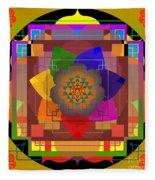 Seven Rays Of Healing 2013 Fleece Blanket