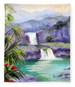 Seven Sacred Pools Fleece Blanket