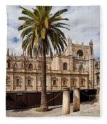 Seville Cathedral In Spain Fleece Blanket