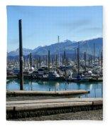 Seward Alaska Bay Fleece Blanket