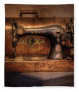 Sewing Machine  - Singer  Fleece Blanket