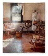 Sewing - Room - Grandma's Sewing Room Fleece Blanket