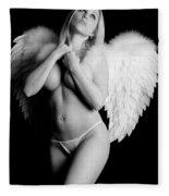 Sexy Angel  Fleece Blanket