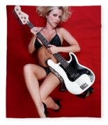 Sexy Guitar Fleece Blanket