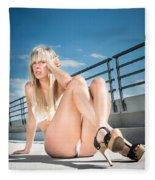 Sexy Woman Fleece Blanket