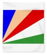Seychelles Flag Fleece Blanket