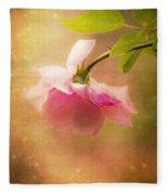 Shabby Chic Rose Print Fleece Blanket