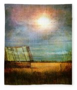 Shack On The Prairie Corner  Fleece Blanket