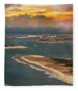 Shackleford Banks Fort Macon North Carolina Fleece Blanket