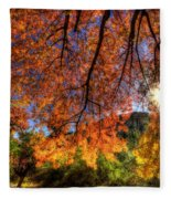 Shades Of Autumn Fleece Blanket