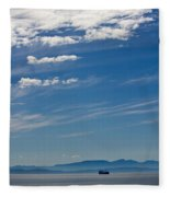 Blue Skies And Bluer Seas Fleece Blanket