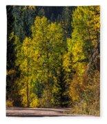 Shades Of Fall Fleece Blanket