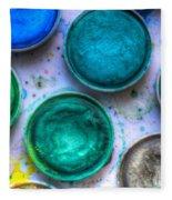 Shades Of Green Watercolor Fleece Blanket
