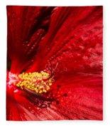Shades Of Red Fleece Blanket