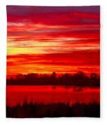 Shades Of Red Fleece Blanket