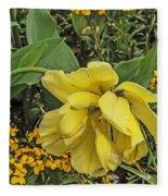 Shades Of Yellow Fleece Blanket