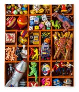 Shadow Box Full Of Toys Fleece Blanket