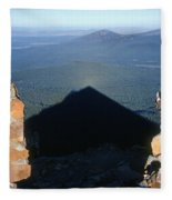 M-05715-shadow Of Mt. Mcloughlin Fleece Blanket