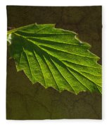 Shadows And Light Of The Leaf Fleece Blanket