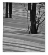 Shadows In Boyertown Park Fleece Blanket