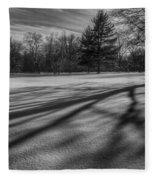 Shadows In The Park Fleece Blanket