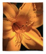 Day Lily Shadows Fleece Blanket