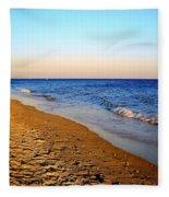 Shadows On Sand Beach Fleece Blanket