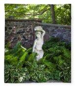 Shady Perennial Garden Fleece Blanket