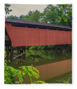 Shaeffer Or Campbell Covered Bridge Fleece Blanket
