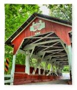 Shafer Covered Bridge Fleece Blanket
