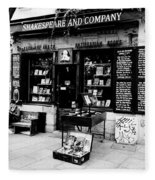Shakespeare And Company Boookstore In Paris France Fleece Blanket