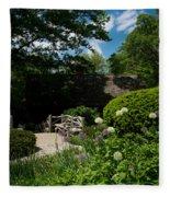 Shakespeares Garden Central Park Fleece Blanket