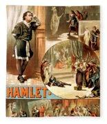 Shakespeare's Hamlet 1884 Fleece Blanket