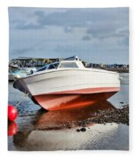 Shaldon-teignmouth Harbour Fleece Blanket