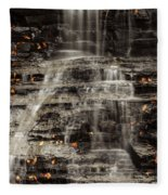 Shale Waterfalls Cascade Fleece Blanket