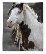 Shaman Portrait Fleece Blanket