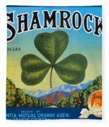 Shamrock Crate Label Fleece Blanket