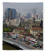 Shanghai, China Fleece Blanket
