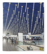 Shanghai Pudong Airport In China Fleece Blanket