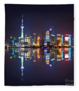 Shanghai Reflections Fleece Blanket