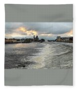 Shannon River 3 Fleece Blanket